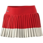 adidas Women's Stella McCartney Barricade Tennis Skirt (Red/White) - Adidas Tennis Apparel