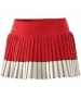 adidas Women's Stella McCartney Barricade Tennis Skirt (Red/White) - Women's Skirts