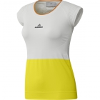 Adidas Stella McCartney Barricade Top (Bright Yellow/White) - Women's Cap-Sleeve Shirts