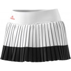 adidas Women's Stella McCartney Barricade Tennis Skirt (White/Black) - Women's Skirts