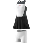 adidas Girls' Stella McCartney Barricade Tennis Dress (White/Solid Grey) - Adidas Tennis Apparel