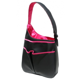 40 Love Courture Black Faux Sophi Hobo