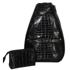 40 Love Courture Black Croc Elizabeth Tennis Backpack - Designer Tennis Backpacks