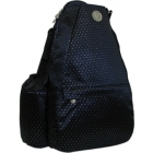 Jet Black Dot Small Sling Convertible - Tennis Sling Bag