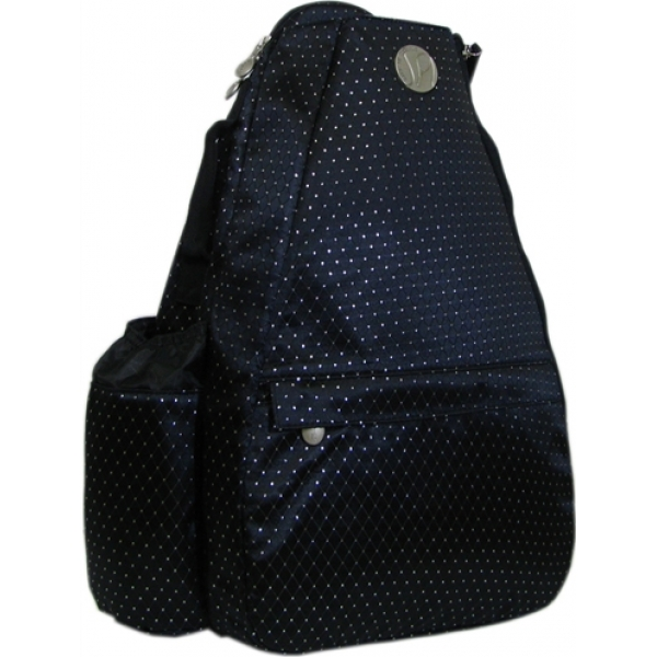 Jet Black Dot Small Sling Convertible