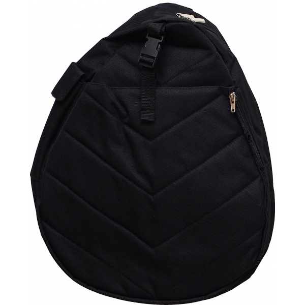 Jet Black Washed Nylon Junior Sling Tennis Bag