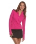 Bloq-UV Mock Zip Long Sleeve Top (Passion Pink) - Bloq-UV Women's Long-Sleeve Shirts
