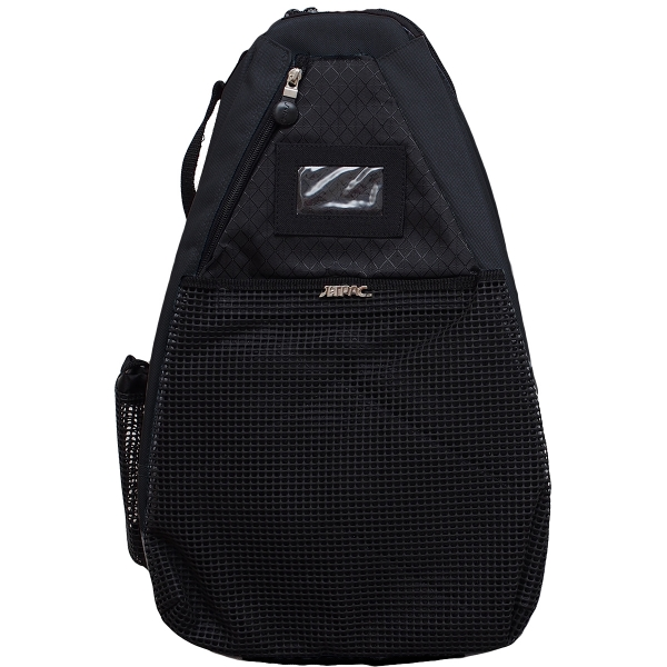 Jet Black T-Strap Tennis Bag