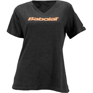 Babolat Womens Logo 2 T-Shirt (Gray Blend)