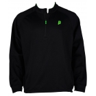 Prince Men's Half Zip Pullover (Black/Green) - Men's Outerwear Jackets Tennis Apparel