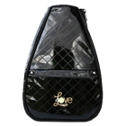 40 Love Courture Black Quilt Elizabeth Tennis Backpack - 40 Love Courture