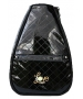 40 Love Courture Black Quilt Betsy Tennis Backpack - Designer Tennis Backpacks