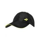 Babolat Basic Logo Tennis Cap (Black/Blazing Yellow)  - Babolat Hats, Caps, and Visors