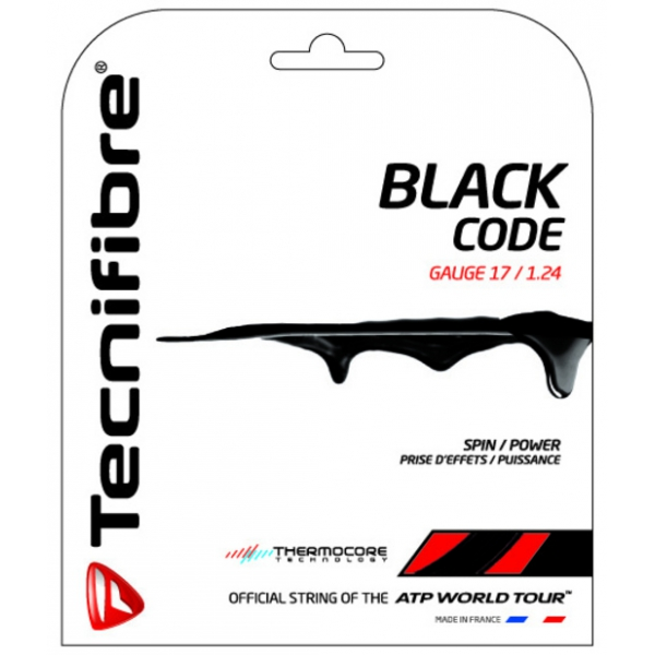 Tecnifibre Black Code 17g Tennis String (Set)