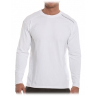 BloqUV Men's Long-Sleeve Sun Protective Jet Tee (White) - Bloq-UV Men's Tennis Apparel