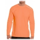 Bloq-UV Men's Jet-Tee Long Sleeve Top (Tangerine) - Men's Tops Tennis Apparel