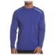 Bloq-UV Men's Jet-Tee Long Sleeve Top (Twilight Blue) - Men's Tops Tennis Apparel