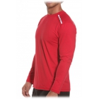 Bloq-UV Men's Jet-Tee Long Sleeve Top (Red) - Men's Tops