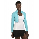BloqUV Women's Long Sleeve Full Zip Sun Protective Athletic Crop Top (Light Turquoise) - Women's Warm-Ups