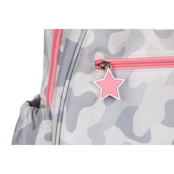 Ame & Lulu Big Love Junior Tennis Backpack (Grey Camo)