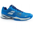 Babolat Men's Jet Mach I AC Tennis Shoe (Blue/White)  - Babolat Jet Tennis Shoes