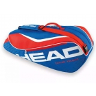 Head Tour Team 6 Pk Combi Tennis Bag (Blue/Red) - 6 Racquet Tennis Bags
