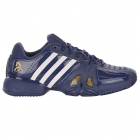Adidas Barricade Novak Pro Mens Tennis Shoes (Blue/ Gold/White)  - Men's Tennis Shoes
