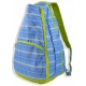 All For Color Blue Rattan Tennis Backpack - All For Color