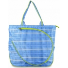All For Color Blue Rattan Tennis Tote - All for Color Tennis Bags