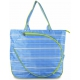 All For Color Blue Rattan Tennis Tote - All For Color