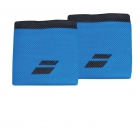 Babolat Logo Wristband (Diva Blue/Rabbit)  - Headbands & Writsbands