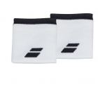 Babolat Logo Wristband (White/Rabbit) - Babolat Headbands & Wristbands