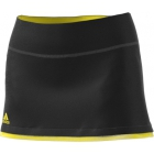 Adidas Women's US Open Tennis Skirt (Black/Bright Yellow) - Tennis Apparel Brands