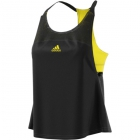 Adidas Women's US Open Tennis Tank (Black/Bright Yellow) - Adidas
