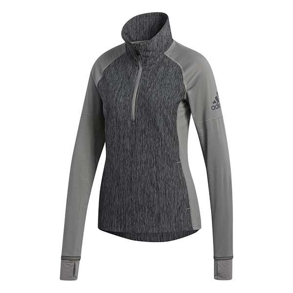 Adidas Women's Performer Baseline 1/4 Zip WarmUp Jacket (Ash/Black)