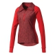 Adidas Women's Performer Baseline 1/4 Zip WarmUp Jacket (Power Red/Black) - Adidas Women's Tennis Apparel