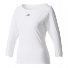 Adidas Women's London Line 3/4 Sleeve Tennis Top (White) - Women's Tops
