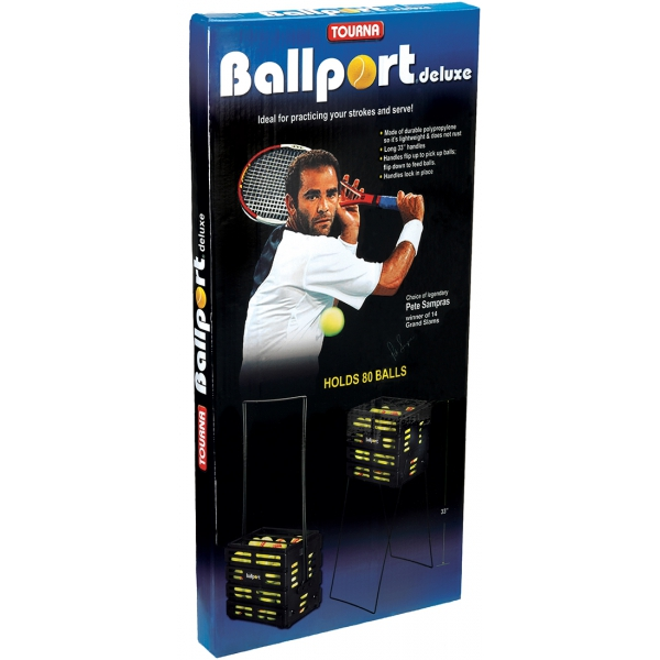 Tourna Ballport 80-Ball Tennis Ball Hopper (Red or Blue)