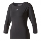 Adidas Women's London Line 3/4 Sleeve Tennis Top (Black) - Adidas Tennis Apparel
