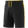 Adidas Men's Barricade Woven Tennis Shorts (Black/Equestrian Yellow)