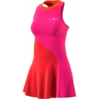 Adidas by Stella McCartney Barricade Tennis Dress (Core Red/Shock Pink) - Adidas Tennis Apparel