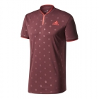 Adidas Men's U.S. Open Series Tennis Polo (Dark Burgundy) - Adidas Tennis Apparel