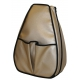 40 Love Courture Golden Bronze Sophi Tennis Backpack - Designer Tennis Bags - Luxury Fabrics and Ultimate Functionality