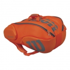 Wilson Burn 15-Pack Tennis Bag (Orange/Grey) - Wilson Burn Tennis Bags