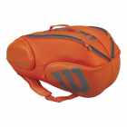 Wilson Burn 9-Pack Tennis Bag (Orange/Grey) - Wilson Burn Tennis Bags