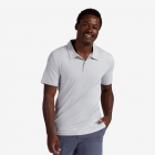BloqUV Men's UPF 50+ Sun Protection Short Sleeve Polo Shirt (Soft Gray) - BloqUV Sun Protective Tennis Apparel