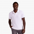 BloqUV Men's UPF 50+ Sun Protection Short Sleeve Polo Shirt (White) - BloqUV Sun Protective Tennis Apparel