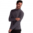 BloqUV Men's UV Protection Mock Zip Long Sleeve Tennis Shirt (Smoke) - Bloq-UV Men's Tennis Apparel