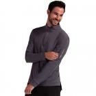 BloqUV Men's UV Protection Mock Zip Long Sleeve Tennis Shirt (Smoke) -