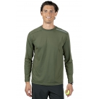 BloqUV Men's Long-Sleeve Sun Protective Jet Athletic Tee Shirt (Army Green) - BloqUV Sun Protective Tennis Apparel